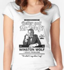 Better call Mr. Wolf Women's Fitted Scoop T-Shirt