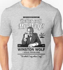 Ruf lieber Mr. Wolf an Slim Fit T-Shirt