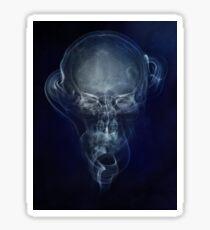 Skull and smokes - blue version Sticker