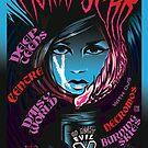 Poster for Moira Scar   Deep Teens   Daisy World   Centre   Necromos   Burning Skies by caseycastille