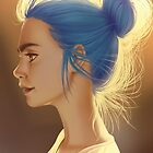 Blue Bun by CAROTdraws