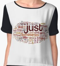 8 Mile by Eminem Typography Art Chiffon Top