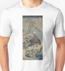 Two travelers, one on horseback - Hokusai Katsushika - 1890 Unisex T-Shirt