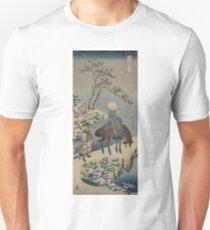 Two travelers, one on horseback - Hokusai Katsushika - 1890 Unisex T-Shirt