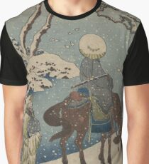 Two travelers, one on horseback - Hokusai Katsushika - 1890 Graphic T-Shirt