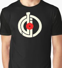DJ New White Modern Symbol Graphic T-Shirt