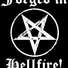 Forged in Hellfire! Sticker by Imago-Mortis