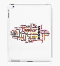 Shadow Of The Valley Of Death Typography Art iPad Case/Skin