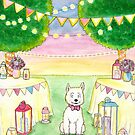 Party Westie by LiseRichardson