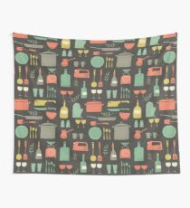 Love Your Kitchen. Retro Edition Wall Tapestry