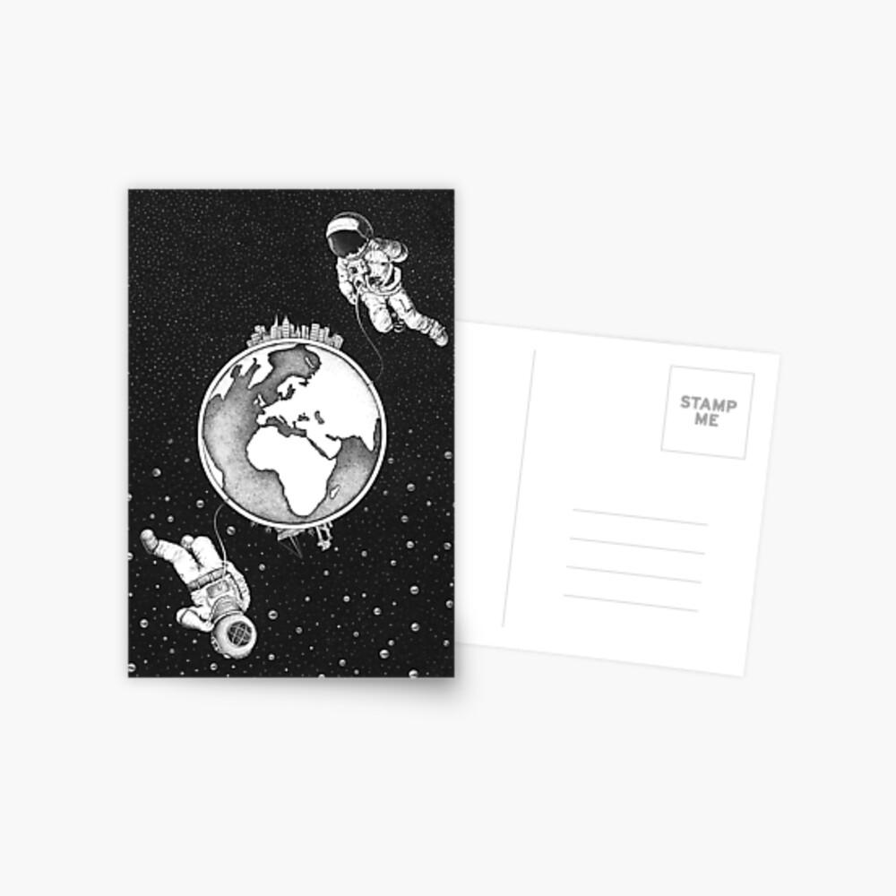 Explorers.  Postcard