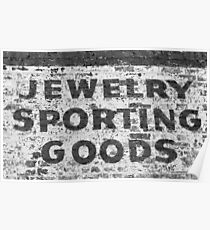 Jewelry Sporting Goods BW Poster