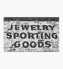 Jewelry Sporting Goods BW Photographic Print