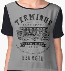 Terminus Sanctuary Community (dark) Chiffon Top
