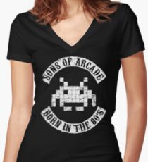 Sons of Arcade Women's Fitted V-Neck T-Shirt