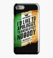 McGregor - Apologize to Nobody - TriColour iPhone Case/Skin