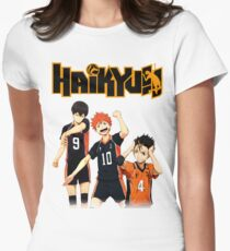 Haikyuu - Tobio, Hinata and Nishinoya Women's Fitted T-Shirt