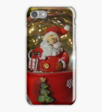 Christmas snow globe ball. iPhone Case/Skin