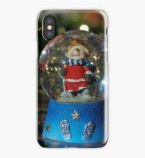 Christmas snow globe ball. iPhone Case/Skin