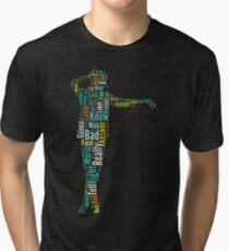 Michael Jackson Typography Poster Bad Tri-blend T-Shirt