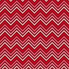 Lipstick Red Chevrons by destinysagent