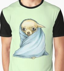 Chihuahua Wrapped in a Blanket Graphic T-Shirt