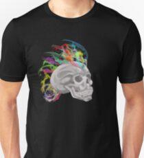 smoke rainbow skull Unisex T-Shirt