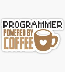 Programmer powered by coffee Sticker