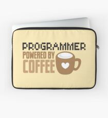 Programmer powered by coffee Laptop Sleeve