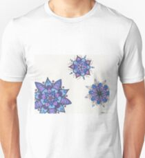 Blue Flower Mandalas Unisex T-Shirt