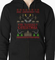 My Roanoke Christmas Zipped Hoodie