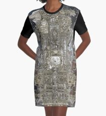 Steampunk Space Transport Graphic T-Shirt Dress