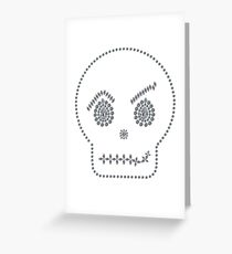 Skull Smirk Greeting Card
