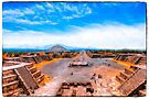 Avenue Of The Dead at Teotihuacan - Mexico by Mark Tisdale