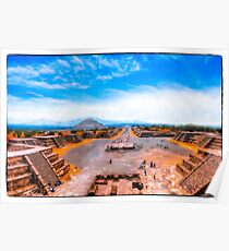 Avenue Of The Dead at Teotihuacan - Mexico Poster