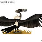 White-rumped Vulture Caricature by rohanchak
