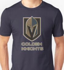 A Golden Vegas Sports Shirt Knight Emblem Tshirt T-Shirt