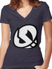 Pokemon - Team Skull Logo Women's Fitted V-Neck T-Shirt