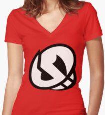 Pokemon - Team Skull Logo Women's Fitted V-Neck T-Shirt