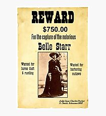 Belle Starr Wanted Poster Photographic Print