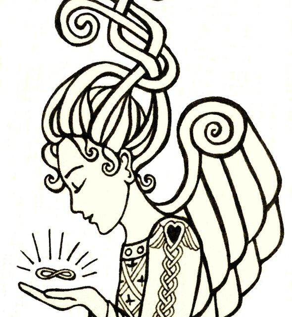 Celtic  Angel  by margotmythmaker