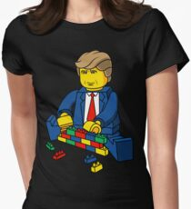 Trump Build A Wall Womens Fitted T-Shirt
