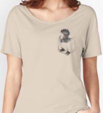 Taschenschutz - Blau Loose Fit T-Shirt