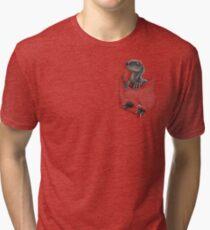 Pocket Protector - Blue Tri-blend T-Shirt