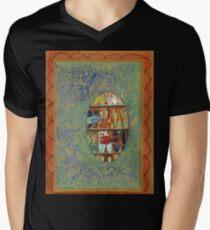 The Shoe Store -The Qalam Series Men's V-Neck T-Shirt