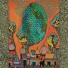 Mughal Skyline - The Qalam Series by Marium Rana
