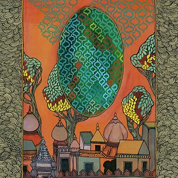 Mughal Skyline - The Qalam Series by mariumrana