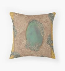 Yellow Pattern - The Qalam Series Throw Pillow