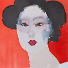 Geisha in Red by Liisa Aholainen