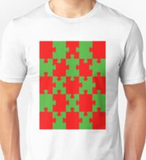 Red and Green Puzzle Unisex T-Shirt